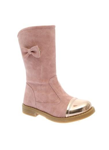 Pink&Orange Nubuk Çizme Pembe
